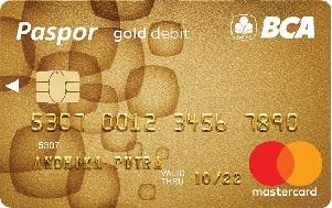 Kartu ATM BCA paspor Gold Chip Mastercard