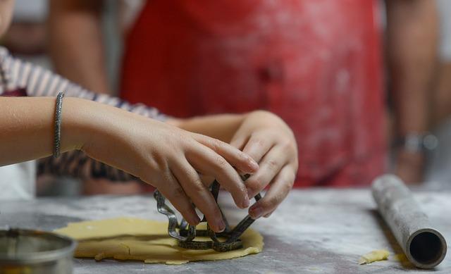 baking with your kids, bake cookies, child skills, playdough, threading, virtual tours