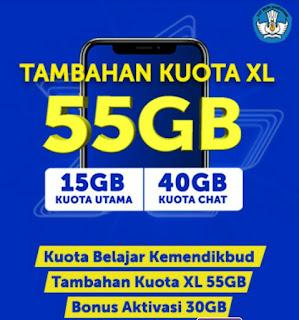 Kuota Internet Gratis 97 GB Dari XL
