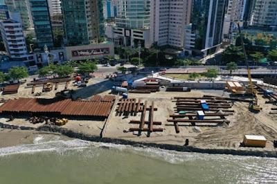 Alargamento da Faixa de Areia em Balneário Camboriú