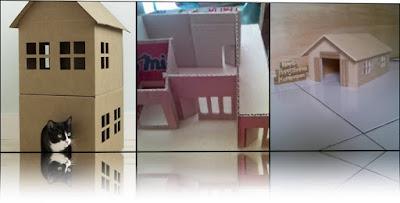 Miniatur Rumah dari Kardus Bekas yang Menginspirasi
