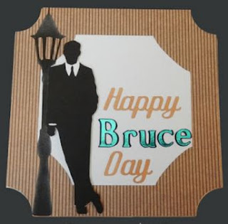 Happy Bruce Day, personalized b-day card, by Grace Baxter