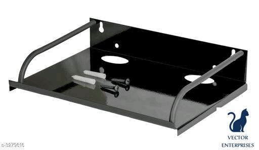 Set Top Box Stand (24 X 16 Cm) Steel Wall Shelf
