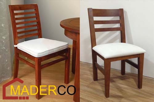 sillas tapizadas de comedor ~ MADERCO PERU