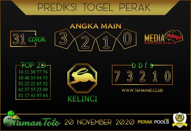 Prediksi Togel PERAK TAMAN TOTO 20 NOVEMBER 2020
