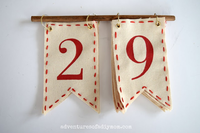 days til christmas pennant sign