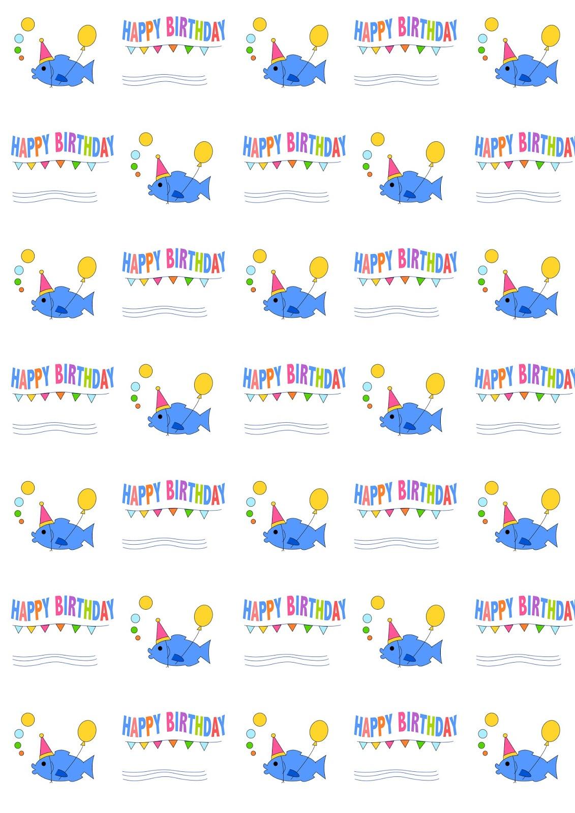 Free Digital Birthday Scrapbooking Paper