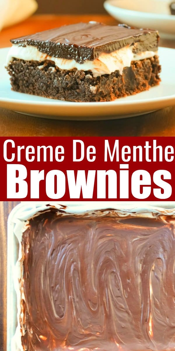 Recipe for Creme De Menthe Brownies are a favorite dessert for Christmas and St. Patricks Day from Serena Bakes Simply From Scratch.