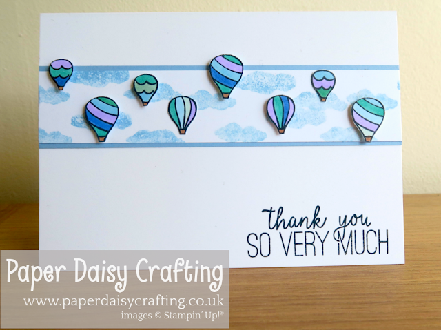 Above the Clouds Thank You card Stampin Up