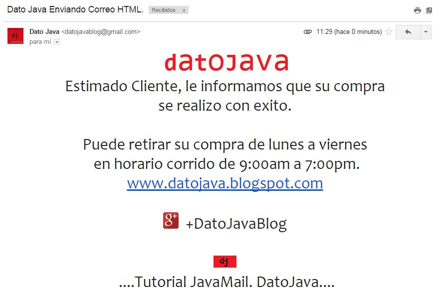 Correo HTML Recibido
