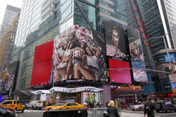 Calvin Klein underwear My Family Kardashians billboards Times Square