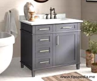 gray bathroom cabinets ideas