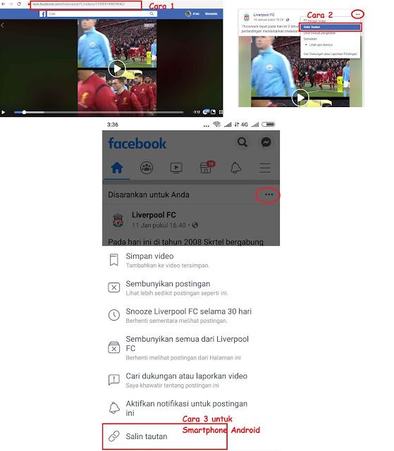 Download Video dari Facebook Tanpa Sofware Tambahan