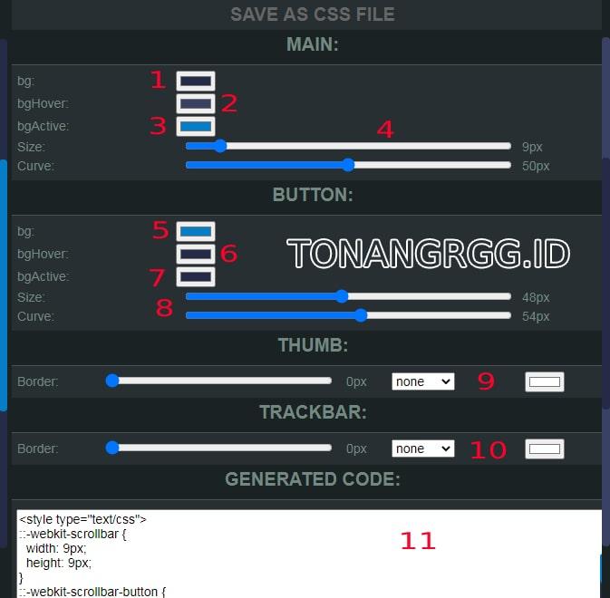 Dunia Tonang, Webkit Scrollbal Generator - Membuat Scrollbar Blog Keren, TonangRGG, Tonang RGG