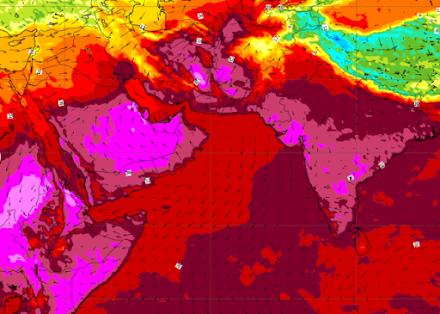 Θερμοκρασίες ρεκόρ για την εποχή στην Μέση Ανατολή