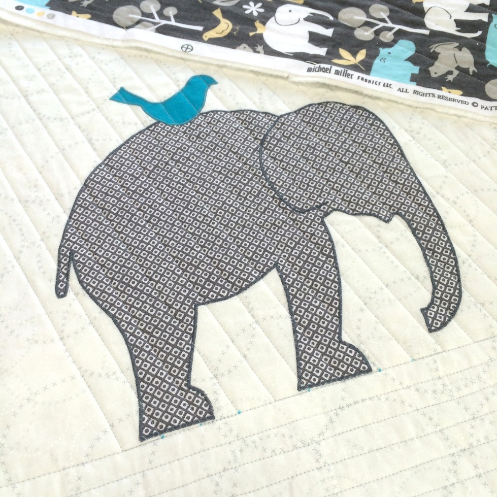 Quilted Blooms: Elephant Baby Quilt Inspired by Fabric