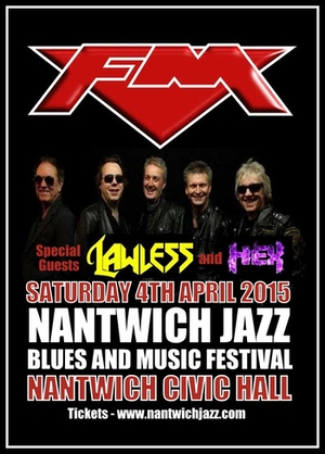 FM at Nantwich Civic Hall - 4 April 2015 - poster
