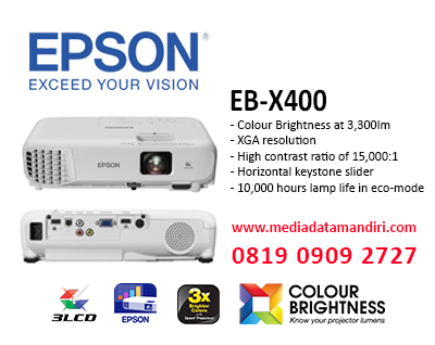 LCD Epson Projector | EB - X400 | media data mandiri