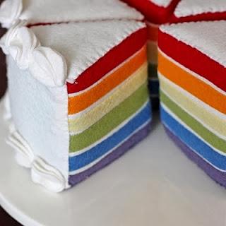 Kerajinan Tangan Dari Kain Flanel, Rainbow Cake Flanel
