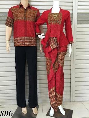 Contoh Baju Kebaya Batik Couple Kondangan