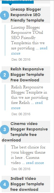 Top Coolest Recent Post Widget For Blogger