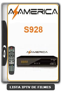 Azamerica S928 em Cinebox Supremo Nova Atualização Correção SKS 61w - Canais SD e HD ON - 11-02-2020