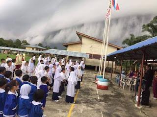 Fenomena Shelf Cloud - Awan ombak besar melanda Sabah 1
