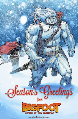 bigfoot sword of the earthman bigfoot comic christmas happy holidays action lab comics bigfoot graphic novel barbarian comics sword sorcery sasquatch