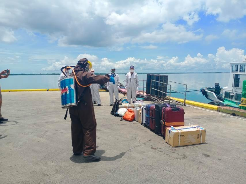 disinfection of luggage baggage at ports seaman crew change