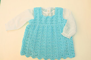 5-Crochet Imagen Vestido a crochet en forma de pichi o peto muy fácil