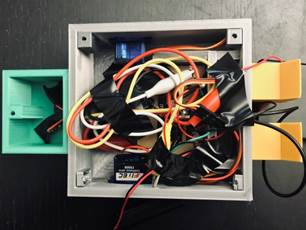 Tidy up all the wires and secure them with electrical tape.