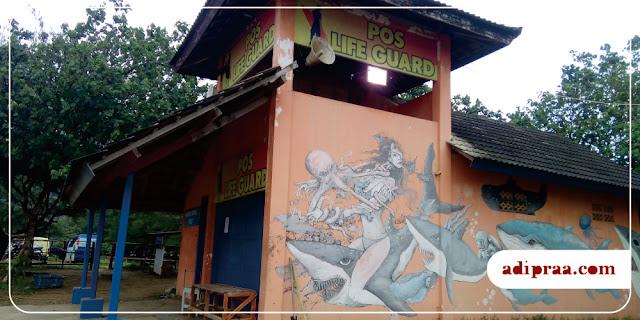 Ada Mural di Pantai Teleng Ria | adipraa.com