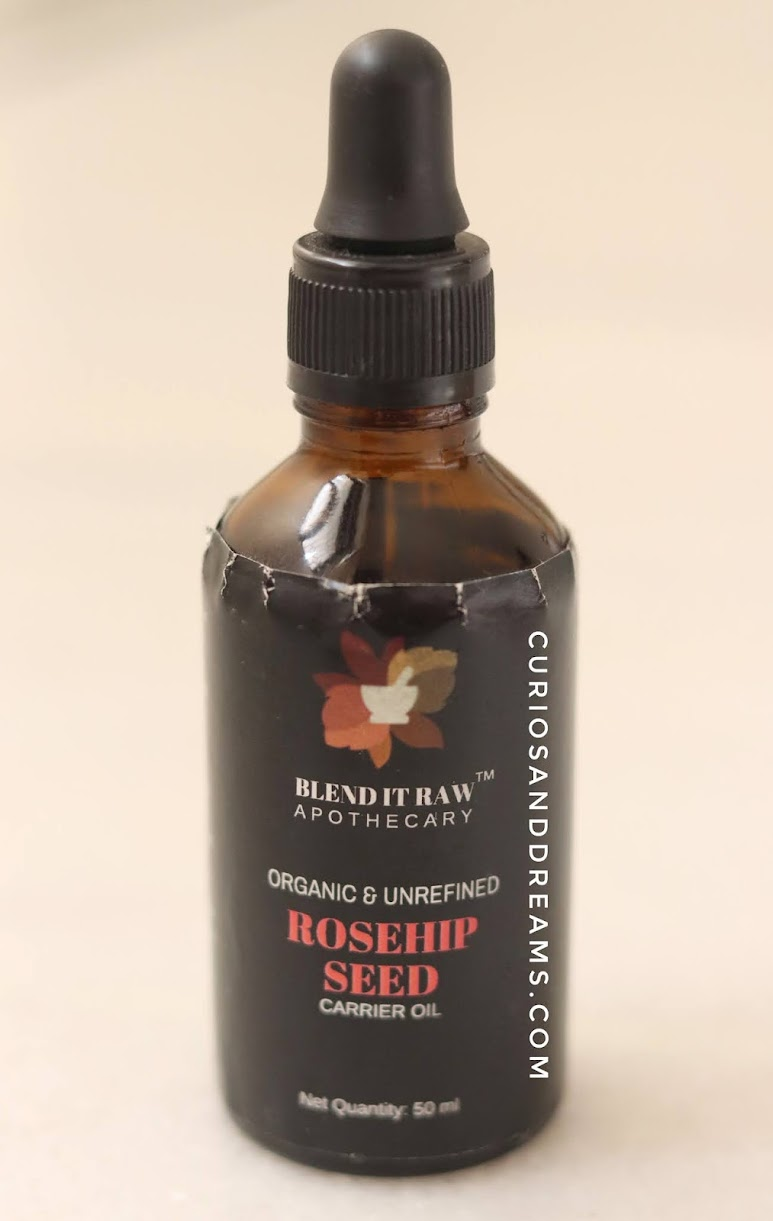Blend It Raw Apothecary Rosehip Oil, Blend It Raw Apothecary Rosehip Oil review, Rosehip Oil review, Blend It Raw