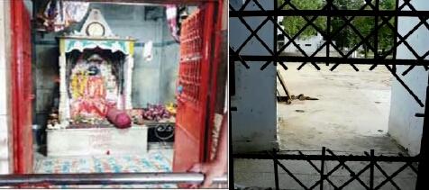 बीती रात चोरों ने दाऊजी मन्दिर को बनाया निशाना,छत्र ,बाँसुरी और दानपेटी मिली गायब| mandir me chori