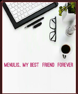 gambar menulis my best friend forever