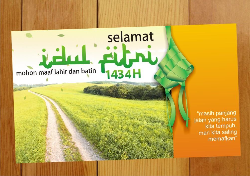 Kartu Ucapan Selamat Lebaran Idul Fitri with Ketupat CDR ...