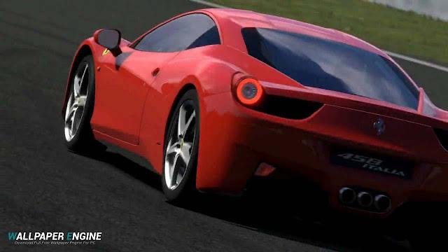 Red Ferrari 458 Italia Wallpaper Engine