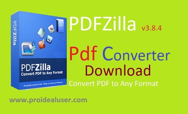PDFZilla v3.8.4 Pdf Converter Download