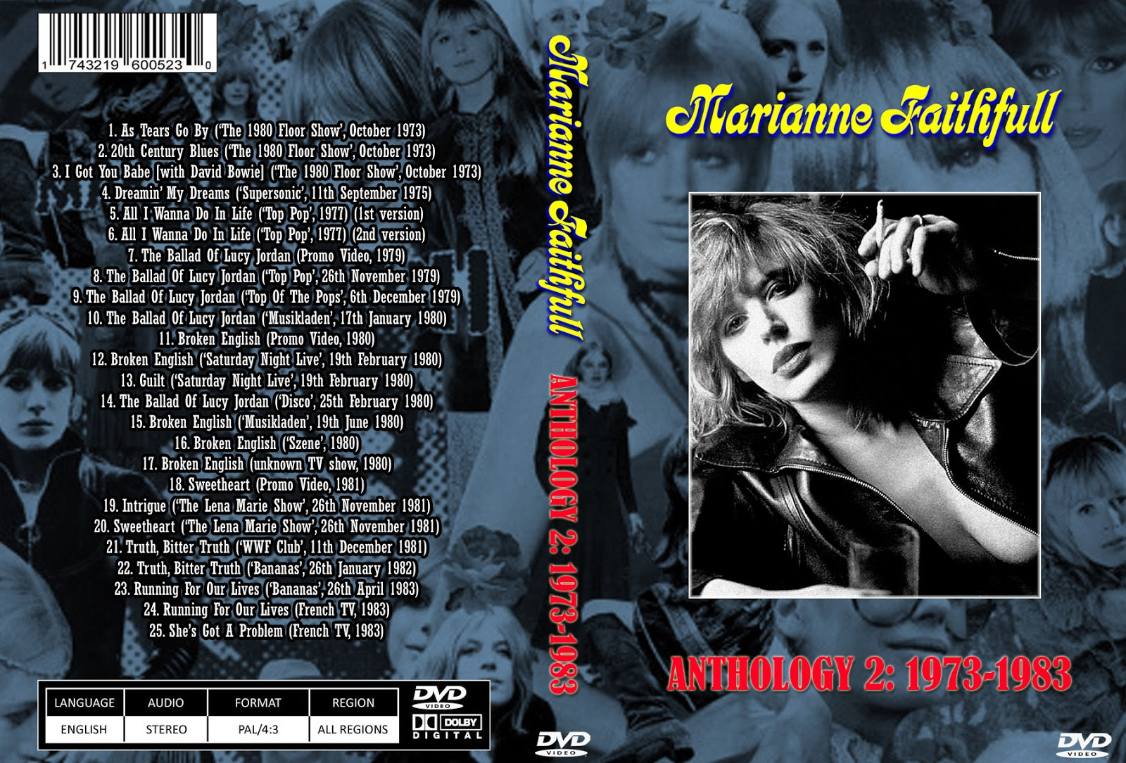 Music tv and video archives marianne faithfull on dvd wanted more marianne faithfull 1964 1983 era preferred altavistaventures