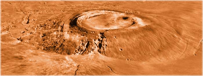 vulcão de Marte teve fim junto com os dinossauros