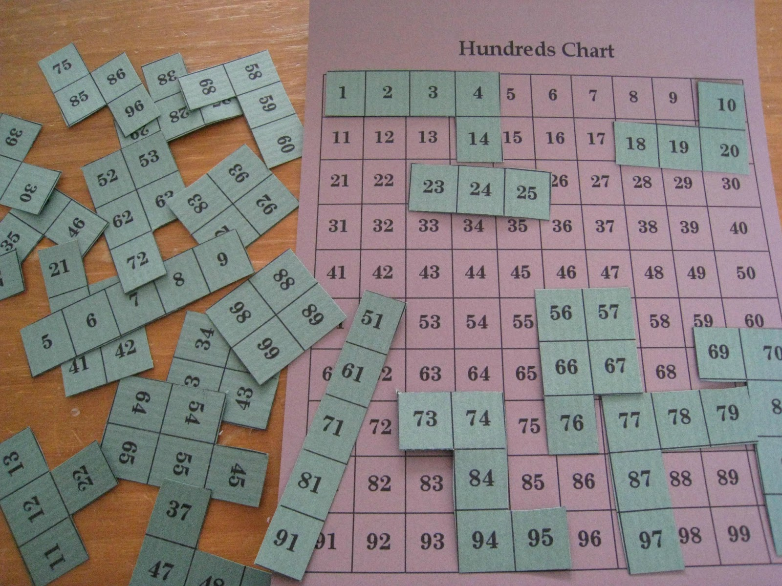 Hundred Chart Math Puzzle