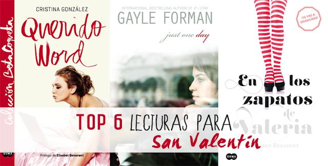 Top 6 Lecturas para San Valentín.