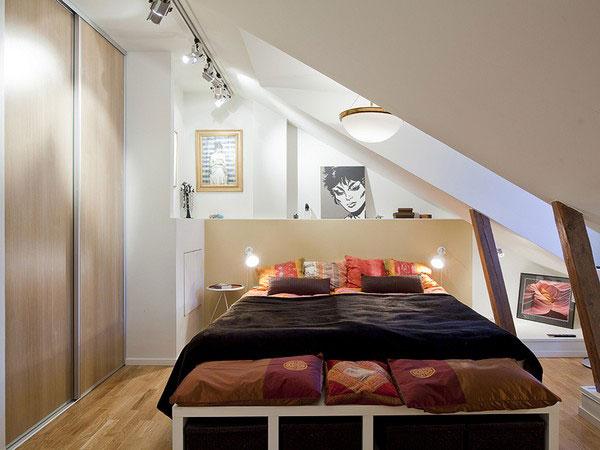 quarto pequeno e elegante