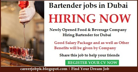 Bartender jobs in Dubai