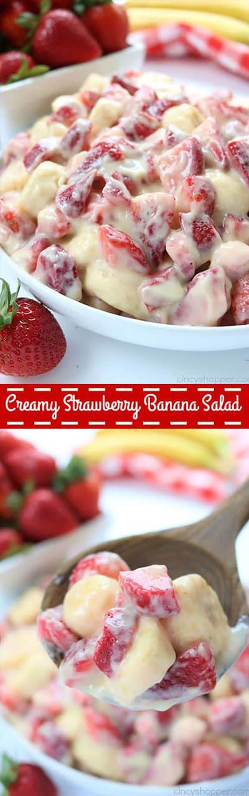 Creamy Strawberry Banana Salad