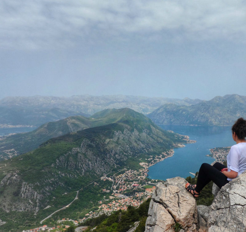 kotor bay, mount lovcen