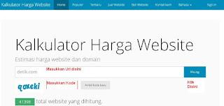 Cara Cek Harga Website dan blog