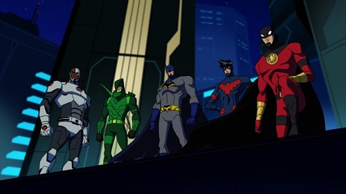 batman unlimited monster mayhem poster wallpaper picture cyborg green arrow batman nightwing red robin