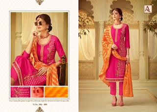 Alok Suits Roop Viscos Upada  Embroidered Salwar Kameez Wholesaler