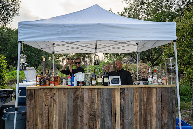 wedding bar at Shadowood Farms wedding in Palm City Florida photo by Houghton Photography